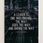 A Leader is one 2