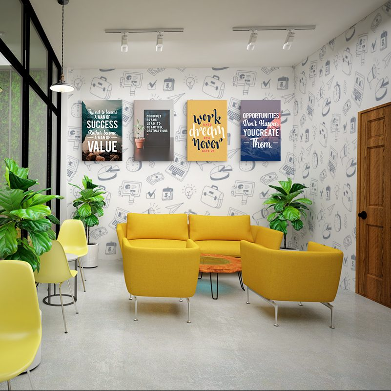 It is time to renovate your space with poster & wallpaper 1