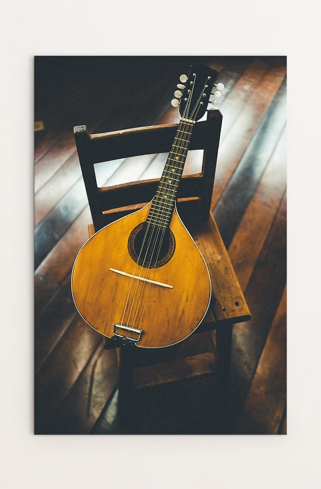 Guitar on chair 2
